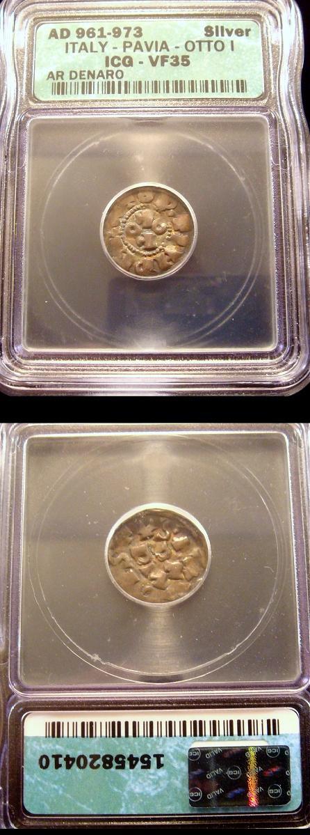 Italy: Pavia Denaro 961-73 Otto I Medieval Coin Photo