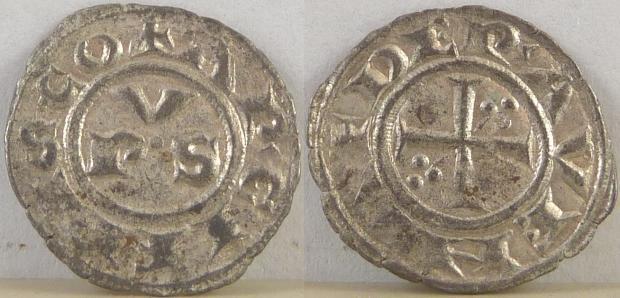 Italy Ravenna Denaro c. 1300 XF Photo