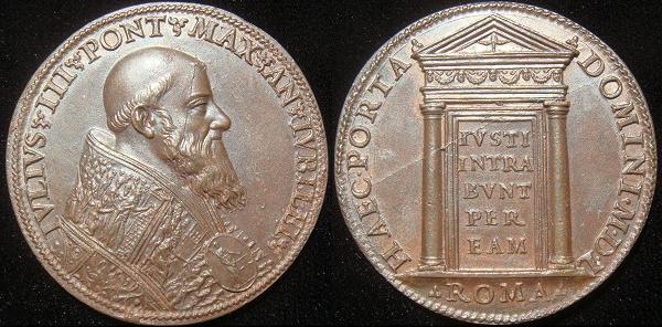 Julius III 1550 Holy Door Bronze Medal Photo