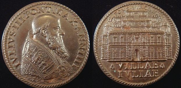 Julius III (1550-5) Villa Giulia Medal Photo