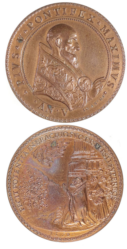 Pius V 1570 Victories Over Huguenots Medal Photo