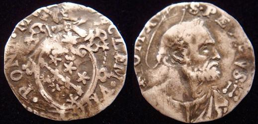Clement VIII (1592-1605) Half Grosso Coin Photo