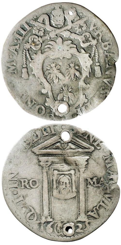 Urban VIII 1625 Giulio Holy Year Coin Photo
