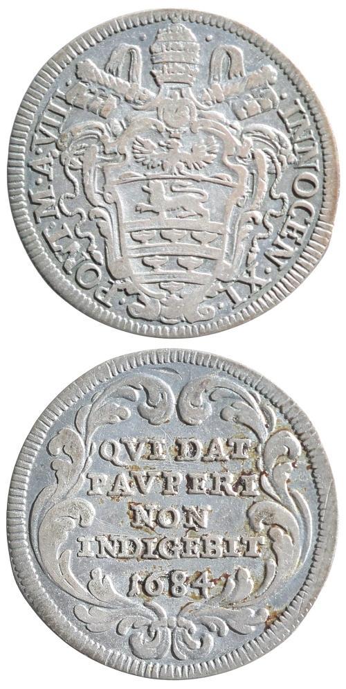 Innocent XI 1684 Giulio F-VF Photo