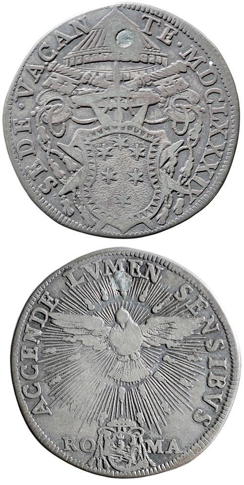 1689 Sede Vacante Silver Testone Photo