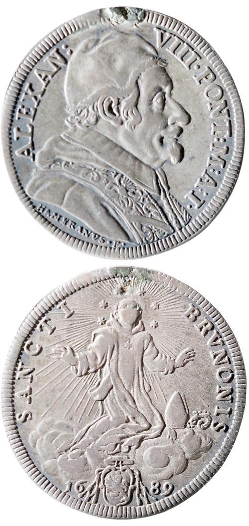Alexander VIII 1689 Testone, Giovanni Hamerani Photo