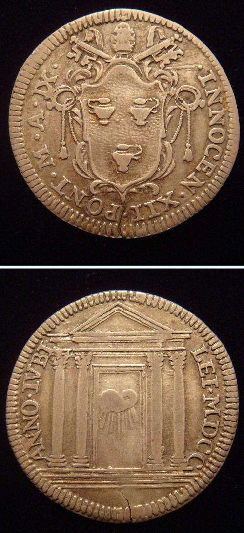 Innocent XII 1700 Giulio Holy Door Coin Photo