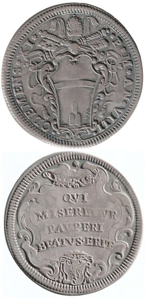 Clement XI (1700-21) A.VIII Testone Photo