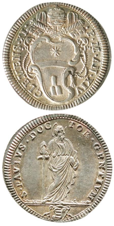 Clement XI (1700-21) A.XIV Giulio, St. Paul, Ch.AU Photo