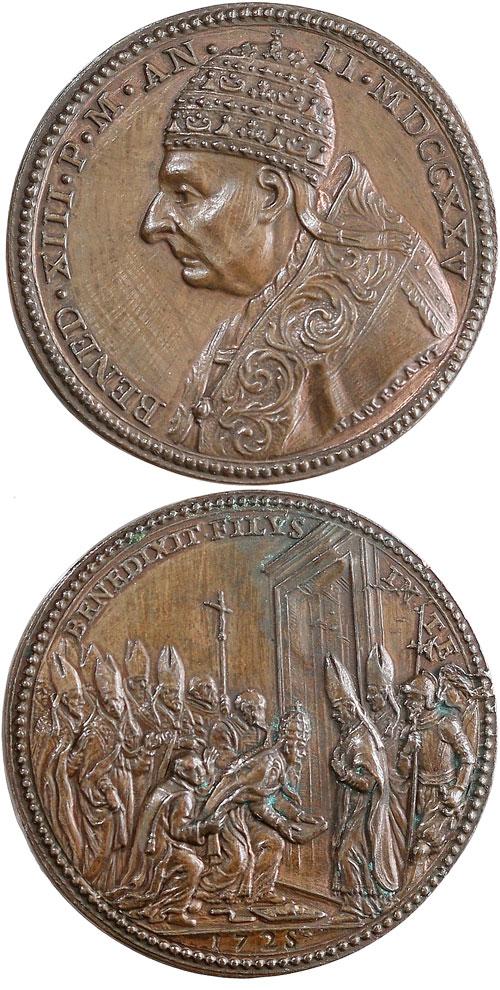 Benedict XIII 1725 Opening Holy Door Medal Photo