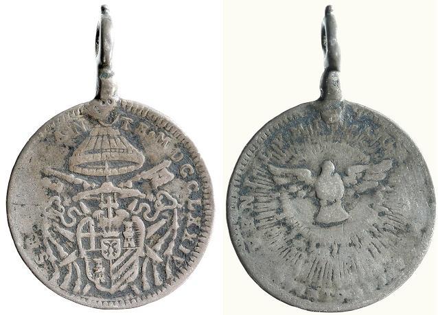 1774 Sede Vacante Quinto di Scudo Coin Photo