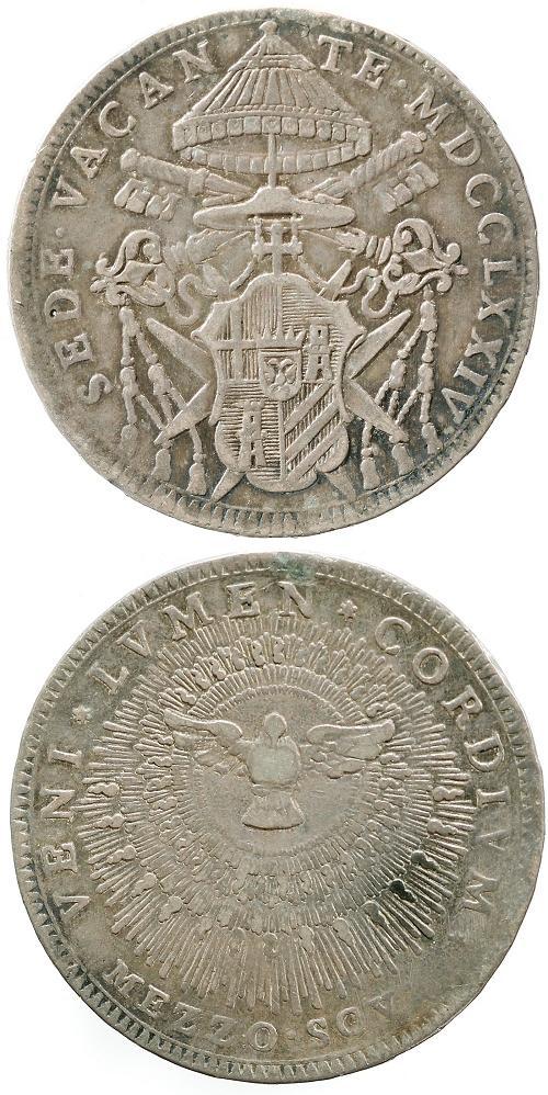 1774 Sede Vacante Half Scudo Coin Photo