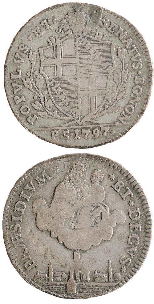 1797 Papal States Bologna 5 Paoli Photo