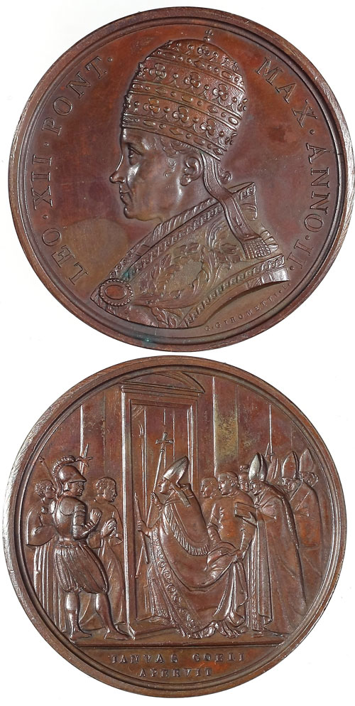 Leo XII 1825 Bronze, Opening of Holy Door Photo