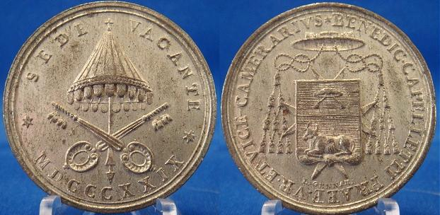 Sede Vacante 1829 Vice-Camerlengo Medal Photo