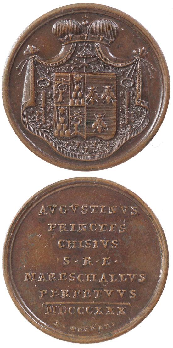 Sede Vacante 1830 Agostino Chigi Bronze Medal Photo