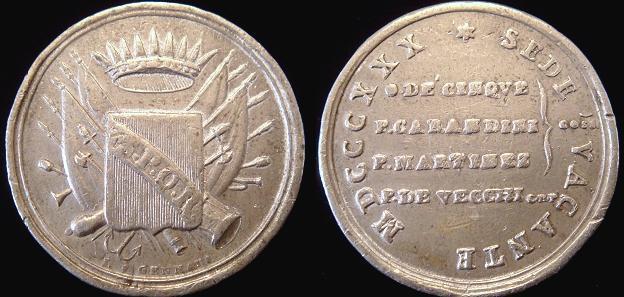 Sede Vacante 1830 Medal Photo