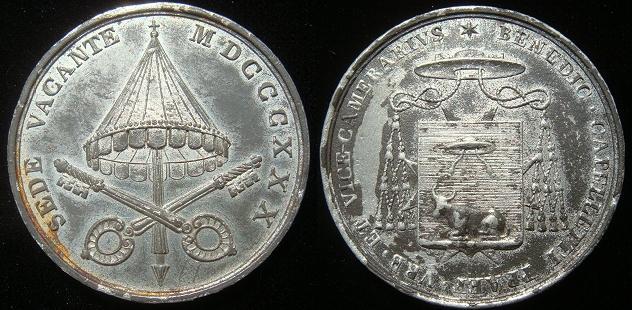 Sede Vacante 1830 Vice-Camerlengo Medal Photo