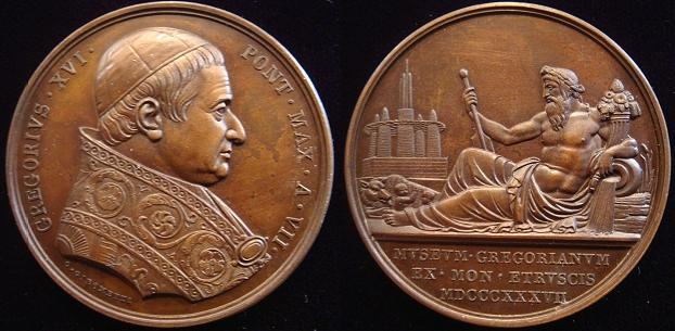 Gregory XVI 1837 Anno VII Gregorian Museum Medal Photo