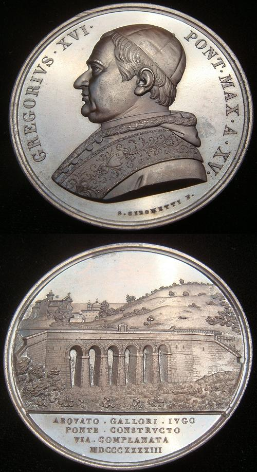 Gregory XVI (1831-46) A.XV Bronze Medal Photo