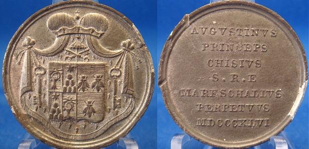 Sede Vacante 1846 Agostino Chigi Medal Photo