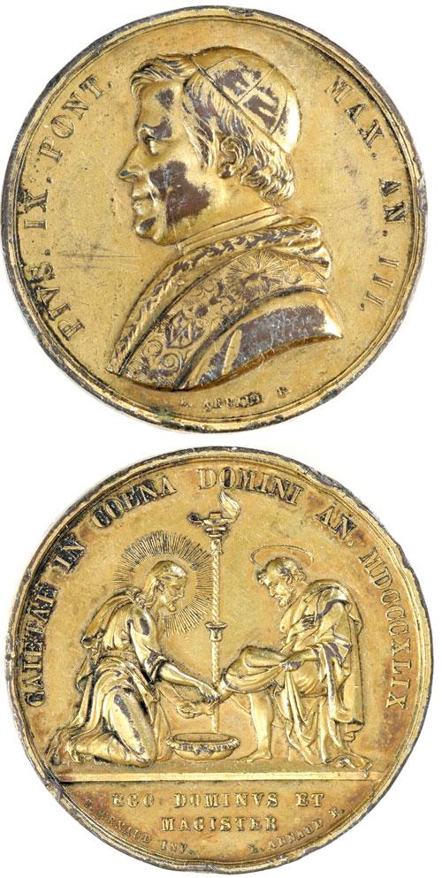 Pius IX 1849 Medal Washing of the Feet Photo
