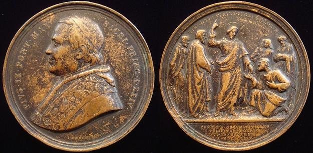 Pius IX 1869 First Vatican Council Medal 72mm Photo