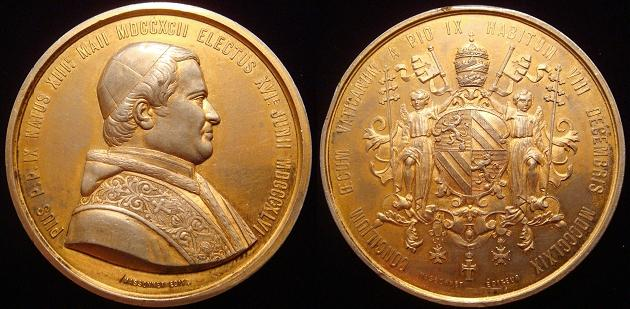 Pius IX 1869 Ecumenical Council Medal 50.5mm Photo