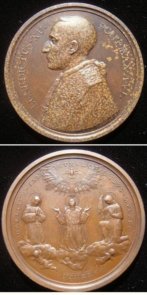 Benedict XV (1914-22) Joan of Arc Medal Photo
