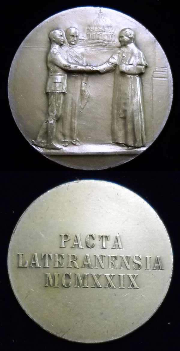 Pius XI Lateran Treaty Medal 25mm Photo