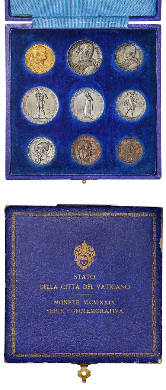 1929 Vatican Coin Set With Case Photo