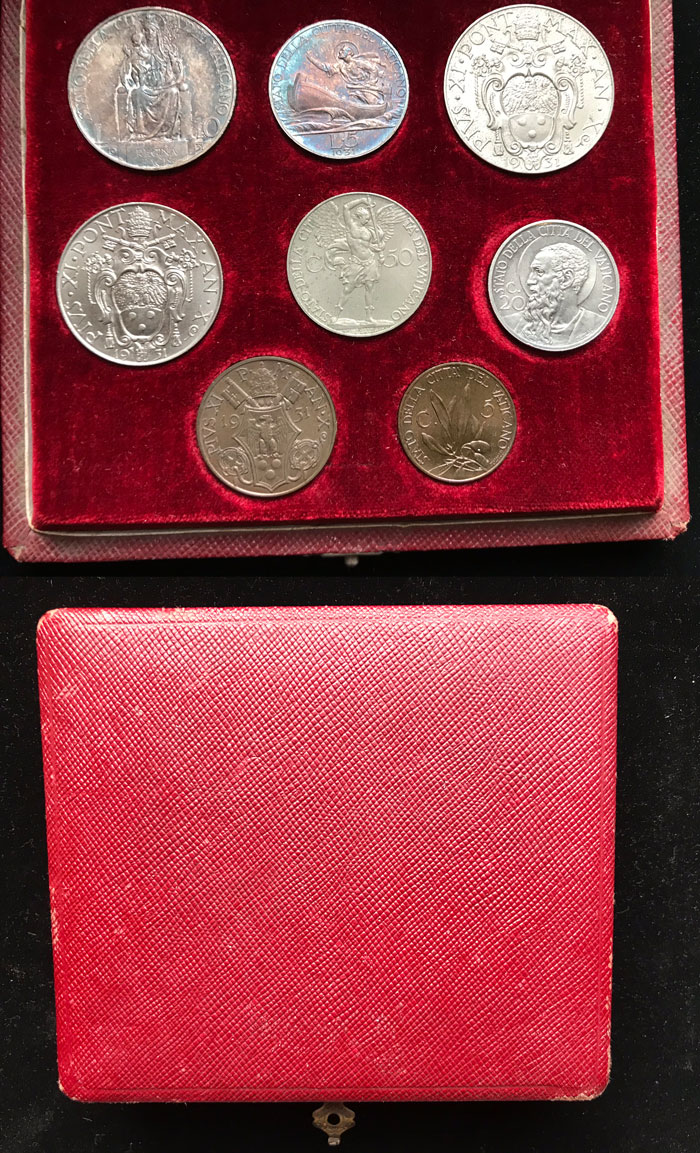 1931 Vatican Coin Set With Case Photo