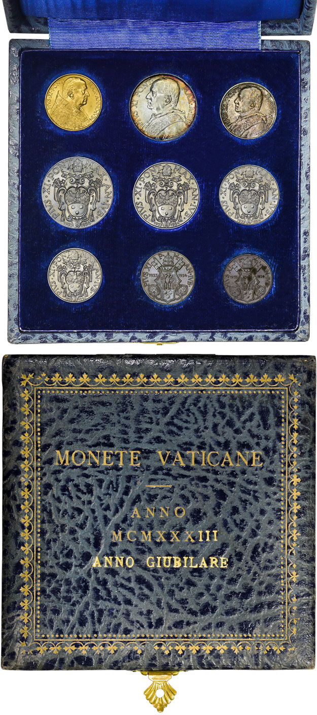 1933-34 Vatican Jubilee Coin Set With Case Photo