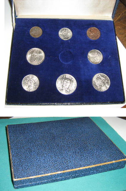1936 Vatican Coin Set, 8 Coins Photo