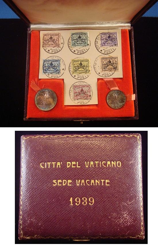 1939 Sede Vacante Coin Set and Stamps Photo