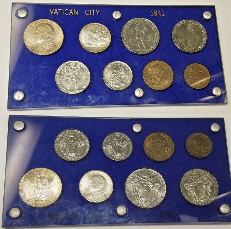 1941 Vatican Coin Set B/U Photo