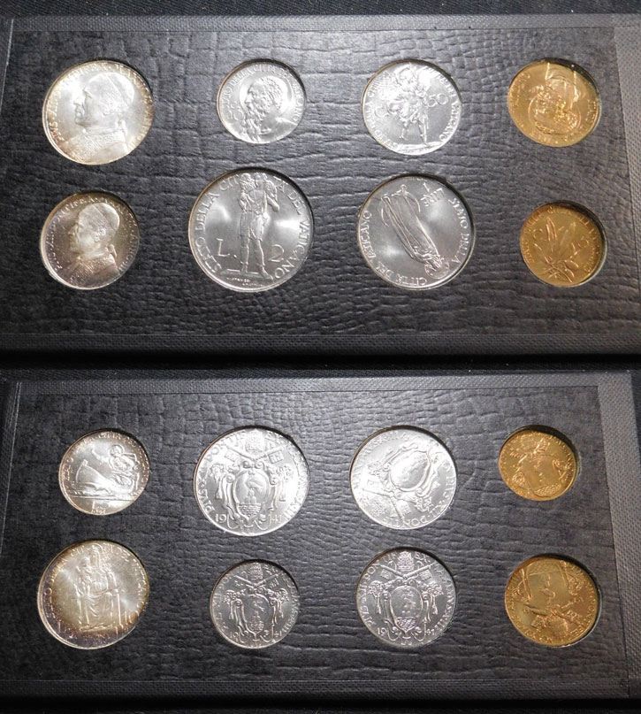 1941 Vatican Coin Set B/U Photo