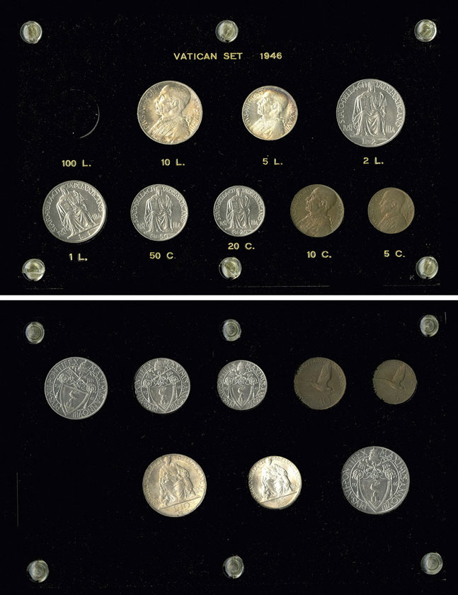 1946 Vatican City 8 Coin Mint Set Photo