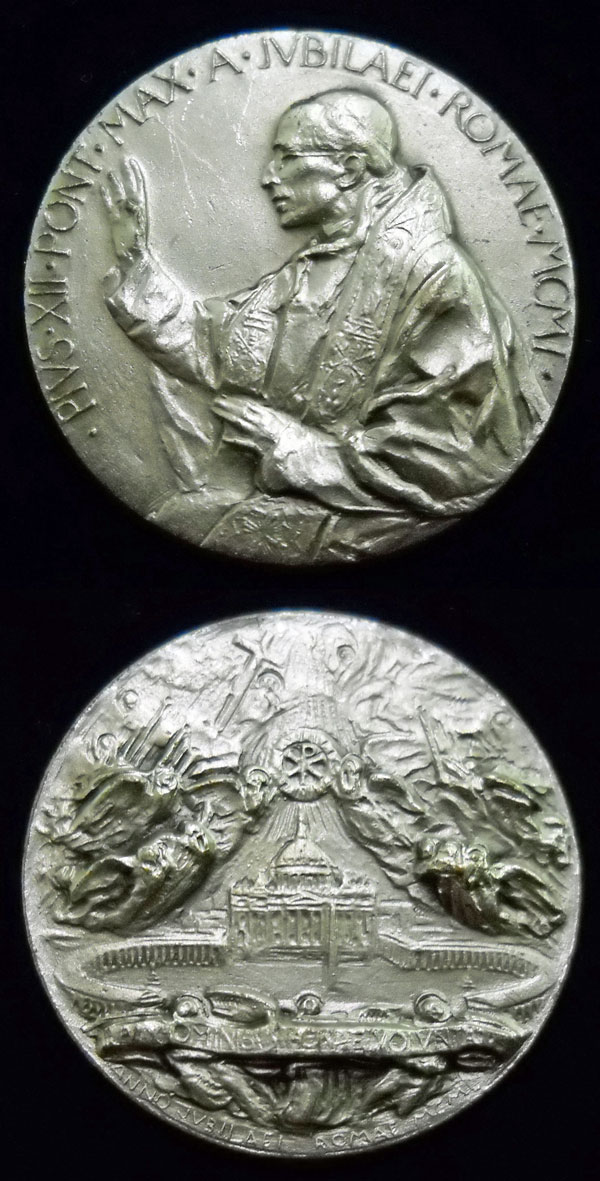 Pius XII 1950 Holy Year Angels Medal 25mm Photo