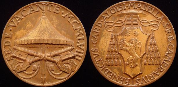 Sede Vacante 1958 Bronze Medal Photo