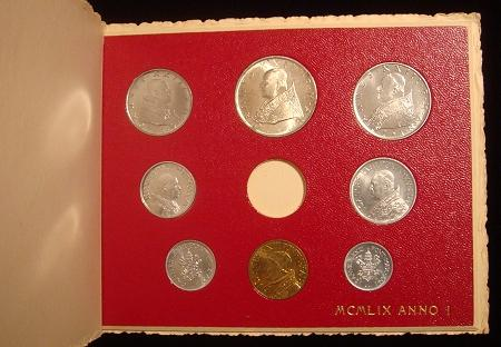1959 Vatican Mint Coin Set, No Gold Coin Photo