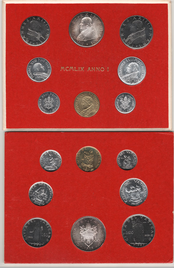 1959 Vatican Mint Coin Set Photo
