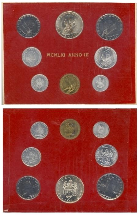 1961 Vatican Coin Set, Anno III John XXIII Photo