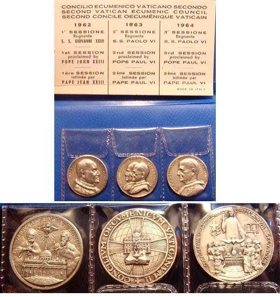 1962-64 Trio of Ecumenical Council Medals Photo