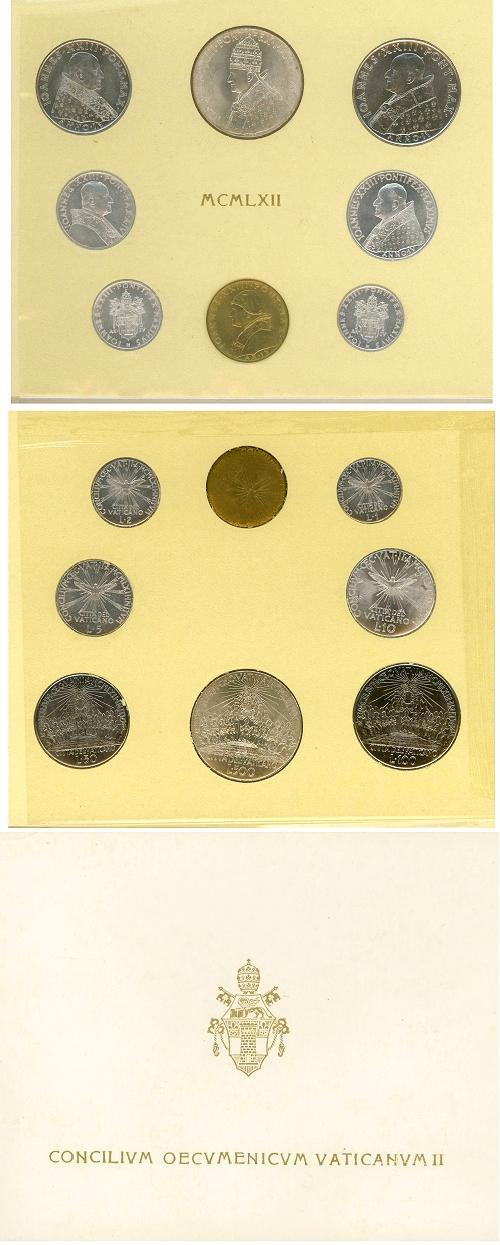 1962 Ecumenical Council Coin Set Photo