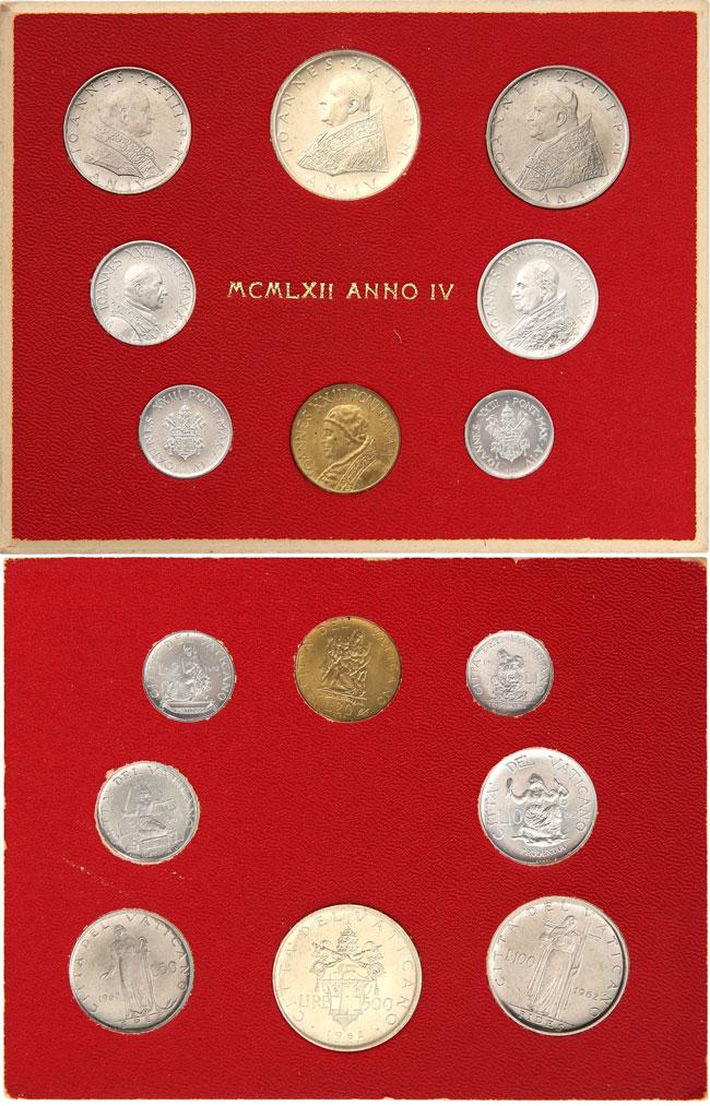 1962 Vatican Coin Set, Anno IV John XXIII Photo