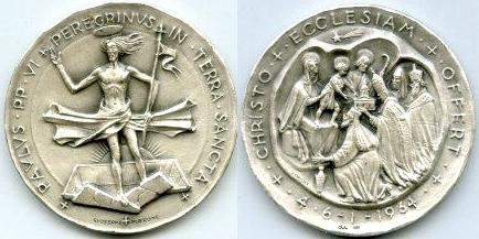 Paul VI 1964 Pilgrimage to Holy Land Silver Photo