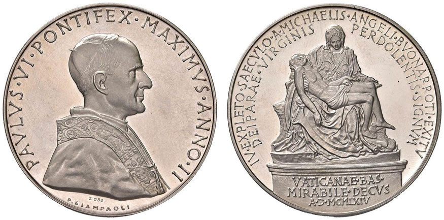 Paul VI (1963-78) Anno II Silver Medal Photo