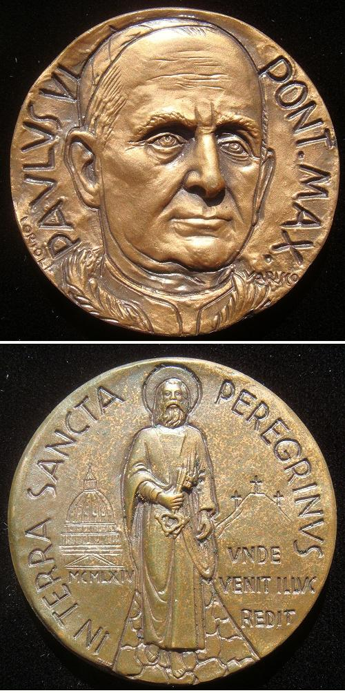 Paul VI 1964 Holy Land Pilgrimage Bronze Photo