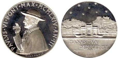 Paul VI (1963-78) Anno III Silver Medal Photo